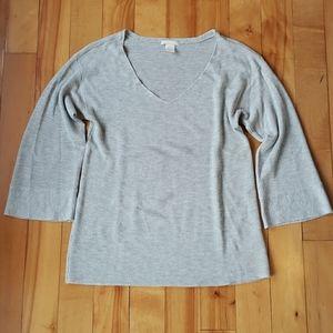 H&M Basic Ribbed V-Neck Sweater - S